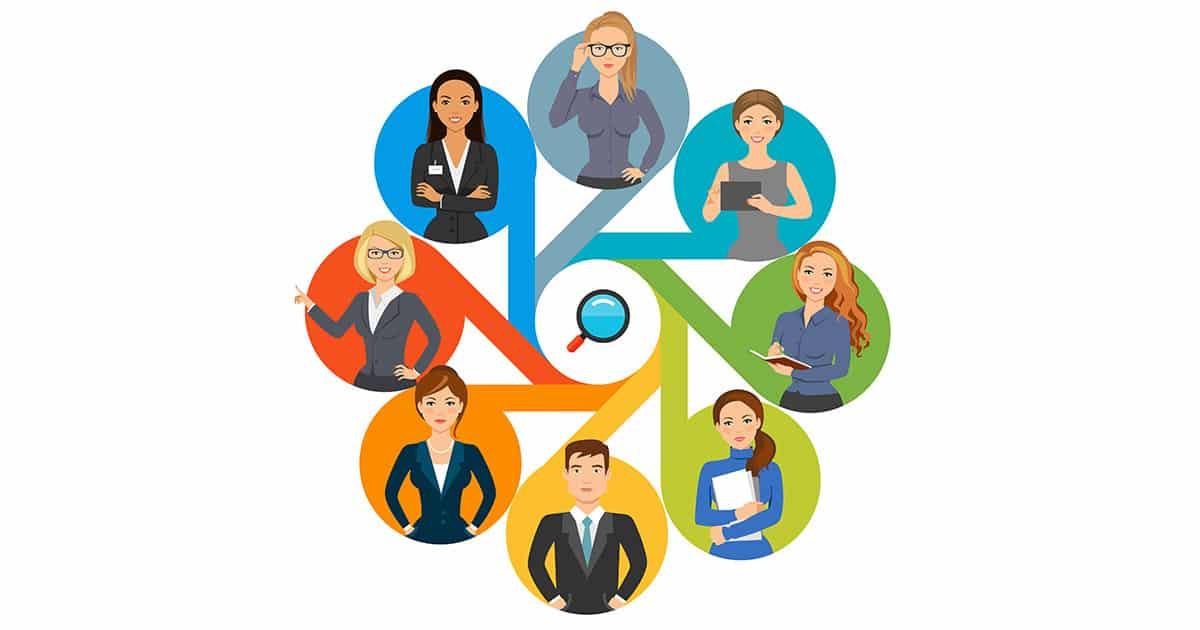Four options teamwork process chart template for presentation