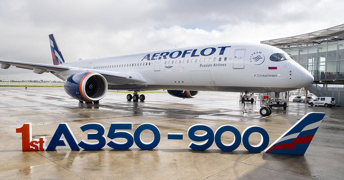 1200-First A350-900 Aeroflot MSN383 With Letters - Delivery ceremony